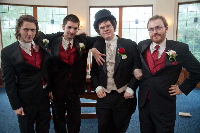 Matt, Miles, myself, and Jay at my wedding