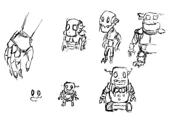 MediaGoblin 0.3.0 release artwork, character sketches