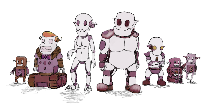 Early colors for the robogoblin crew