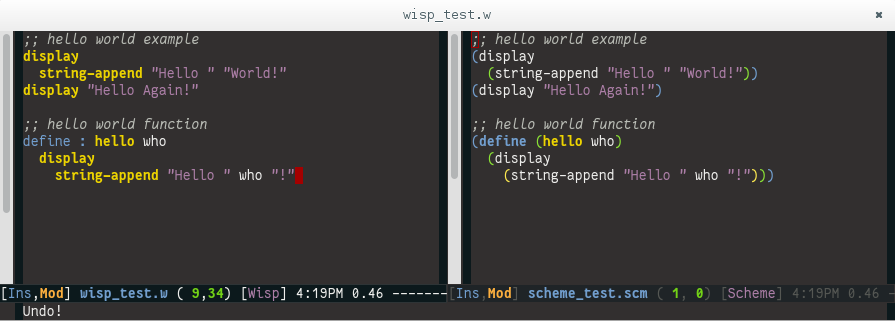 Wisp and hello world