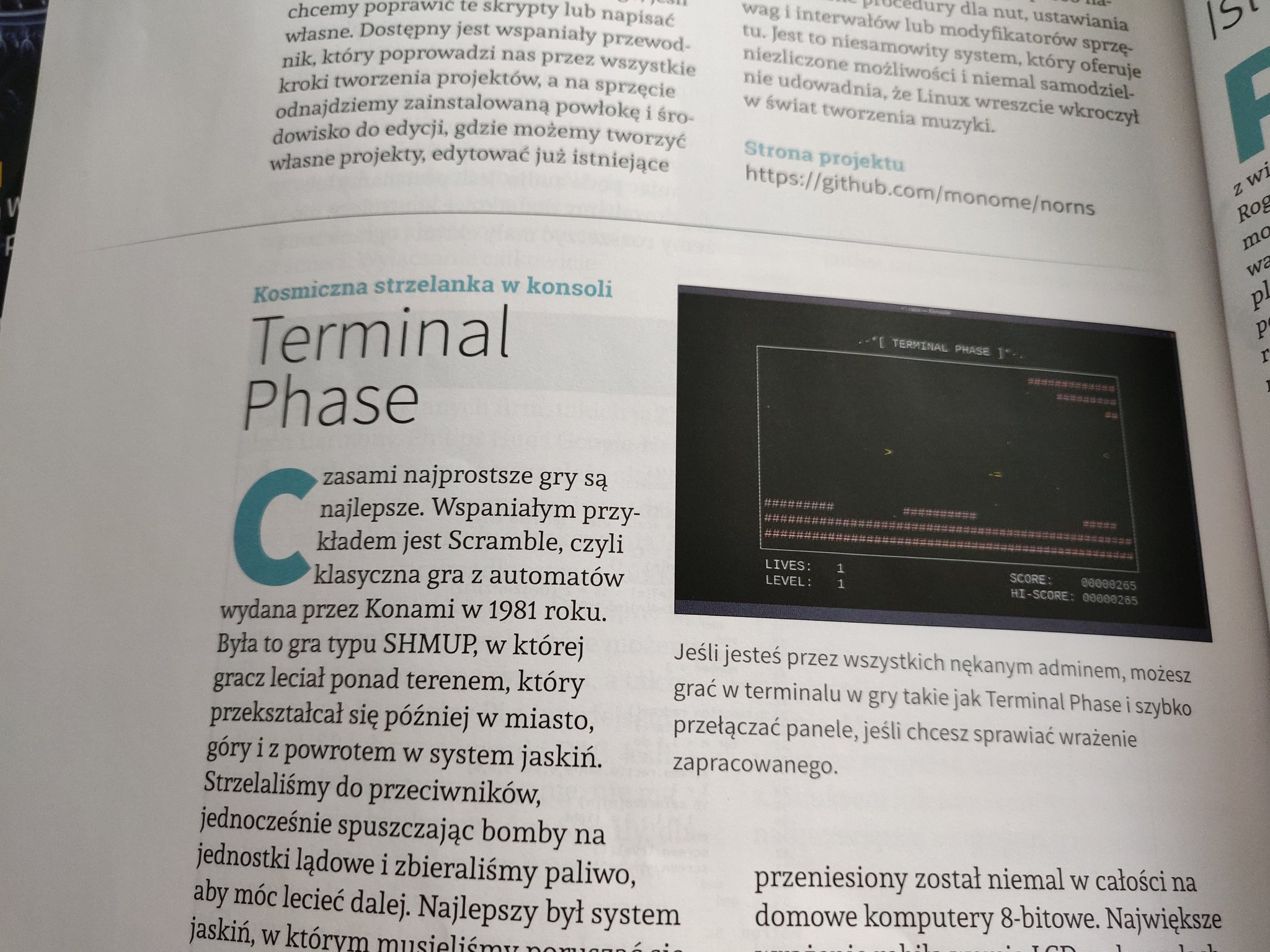 Terminal Phase featured in Polish version of Linux Magazine